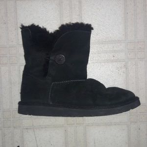 Black UGG boots fuzzy liner size 5